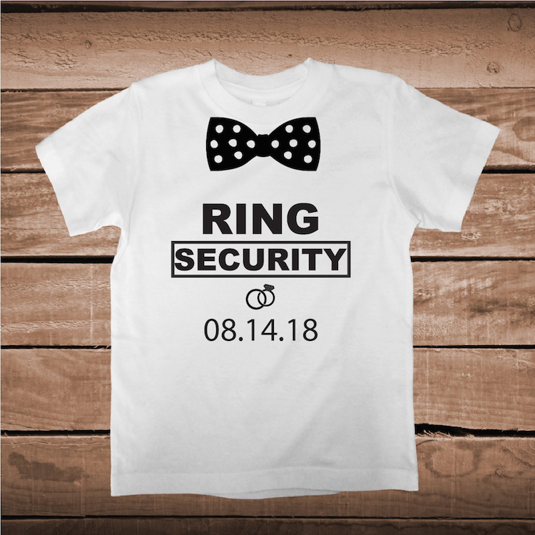 RING SECURITY Toddler or Baby Outfits Custom made Iron on Decals