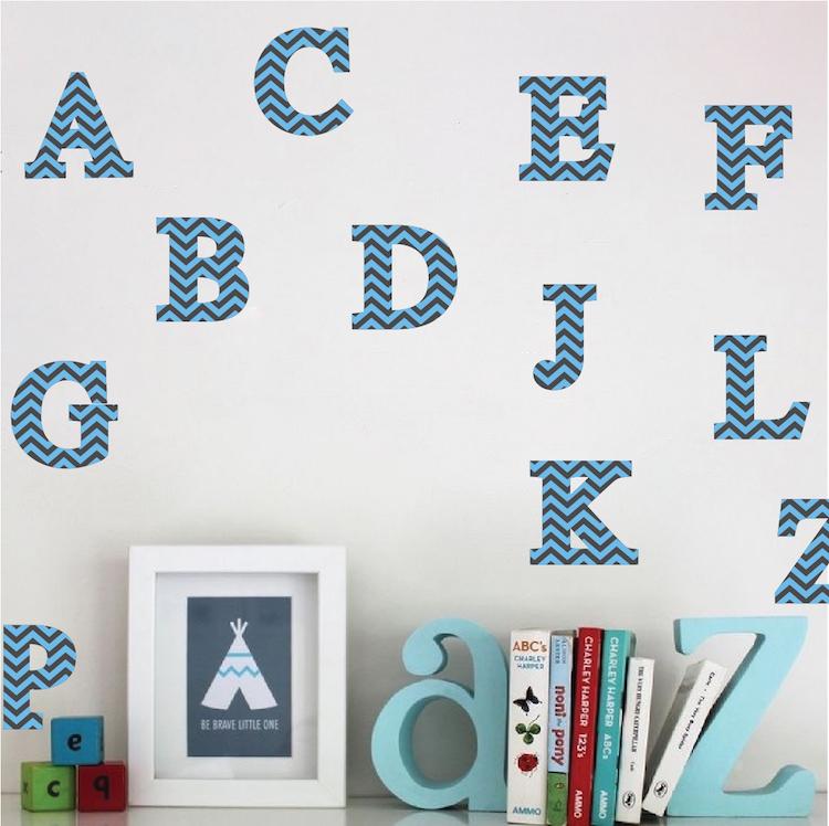 Chevron Alphabet Wall Designs