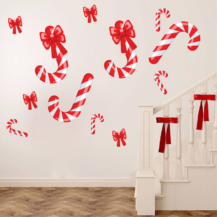 Candy Cane Wall Decals Christmas Murals Primedecals
