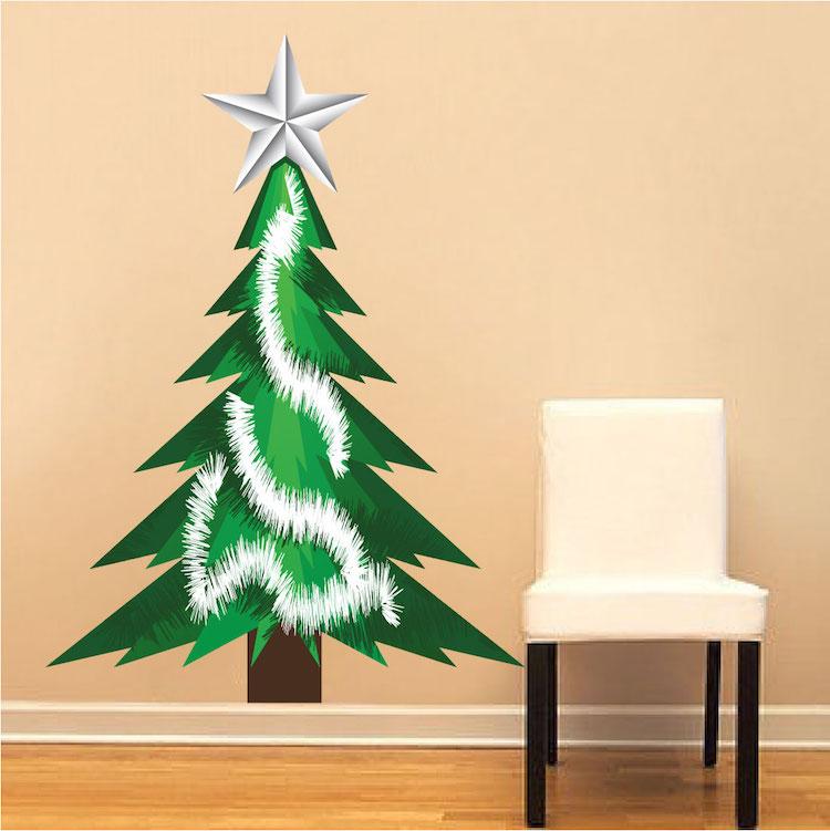 Christmas Tree Tinsel Wall Decal Christmas Murals