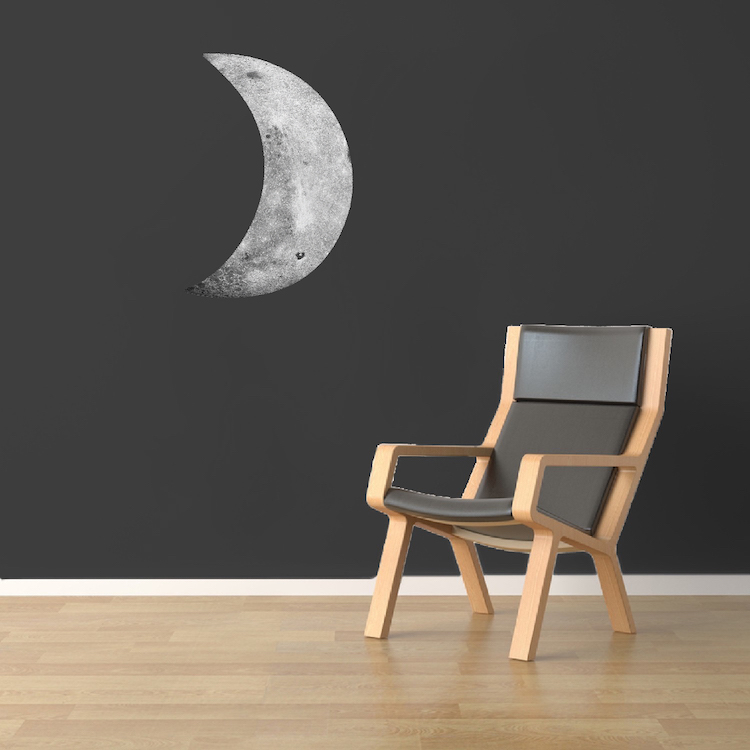 Crescent Moon Decal Space Wall Decal Murals Primedecals