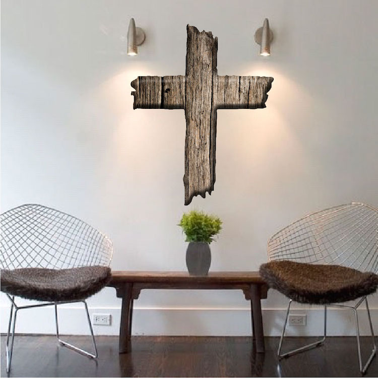 cross wall decal mural - cross wall stickers - primedecals