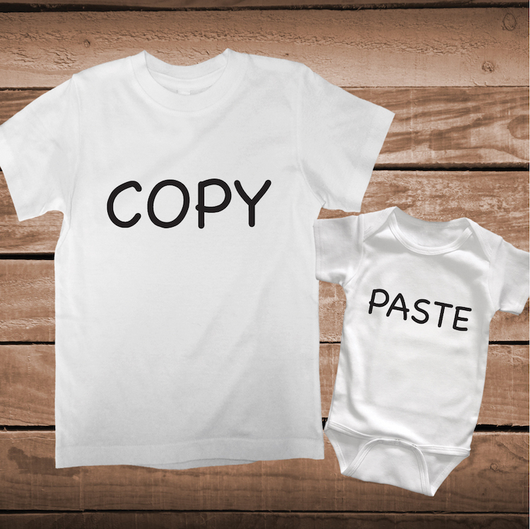 Copy Paste Matching Parent And Child Or Twins Tee