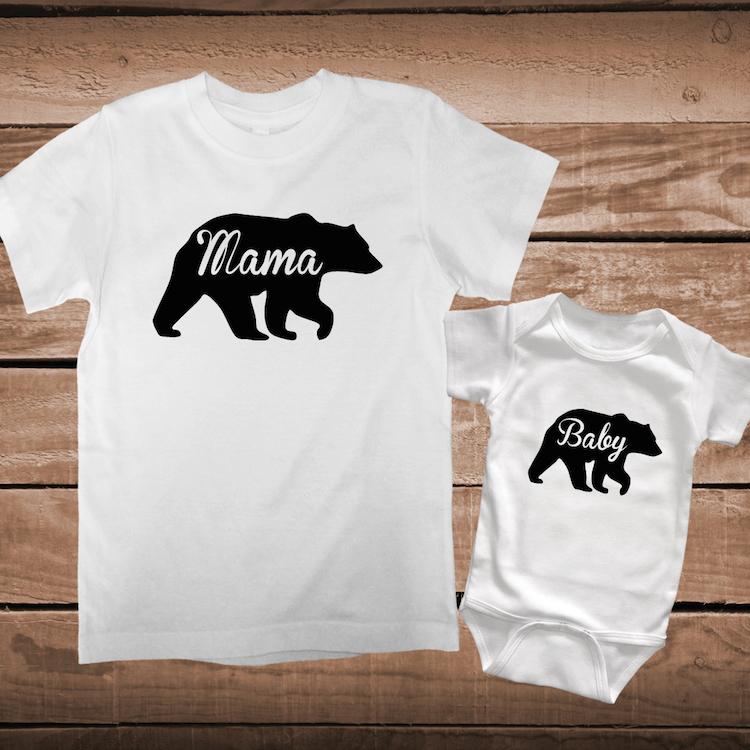 Papa Mama And Baby Bear Custom Tees Mama Bear Tees Papa