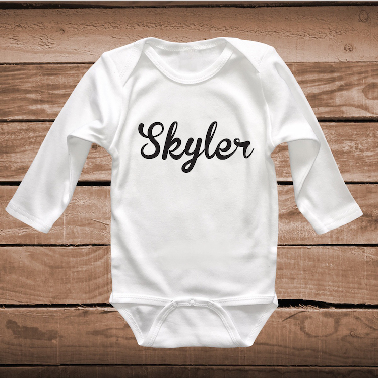 fcbfd2dc5 Custom Name on Bib, Tee or Onesie _ Tee Tees _ Custom Baby Tees _ ...