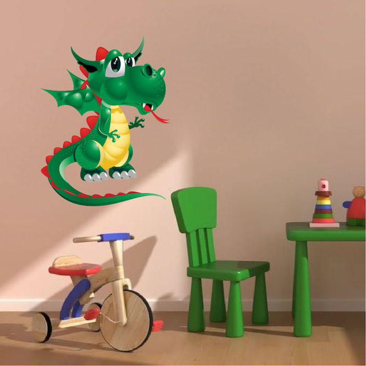 Kids Dragon Wall Decal - Nursery Wall Decal Murals - Primedecals
