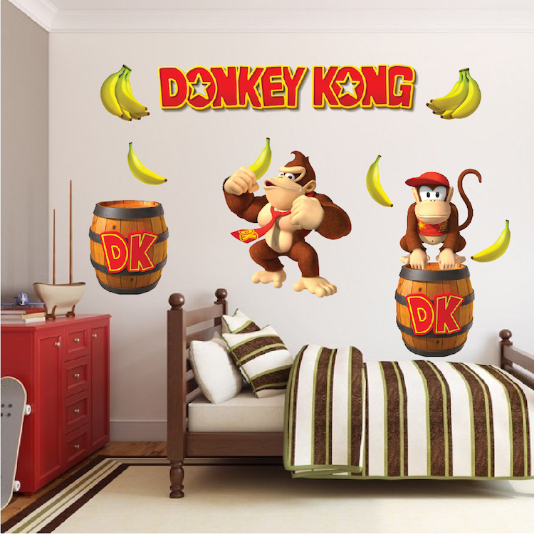 High Quality Donkey Kong Wall Mural Decal