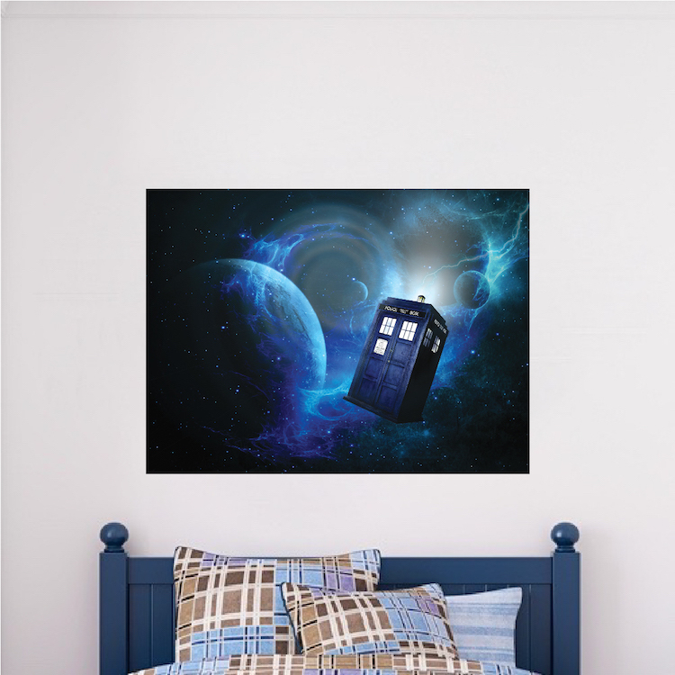 Dr Who Wallpaper Decal Sticker Dr Who TARDIS Vinyl Wall Decal