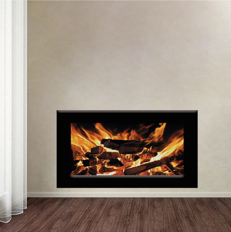 Fireplace Wallpaper Decal Fireplace Wall Sticker Living Room Wall Murals Fireplace Wall