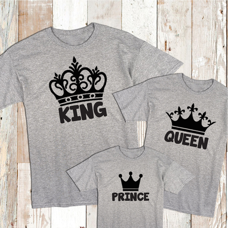 King Queen Prince And Princess Tees Custom King Tees For