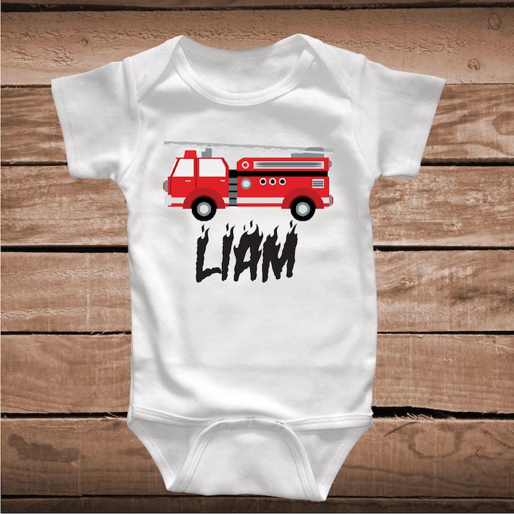 d9bf6126c Fire Truck T-Shirt Kids Tee Shirt _ Fire Truck Kids Clothes _ Dad ...