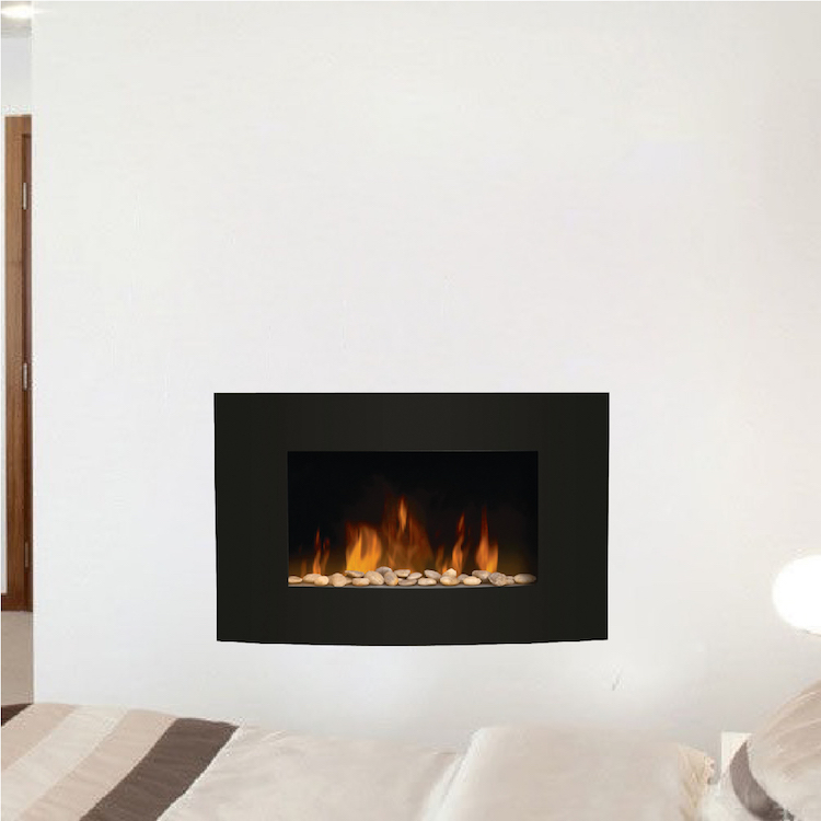 fireplace wall decals - living room wall decal murals