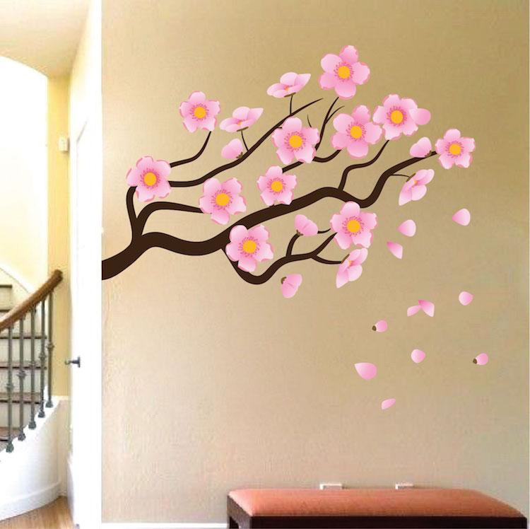 Flower Branch Wall Mural Decal Garden Wall Decal Murals Primedecals