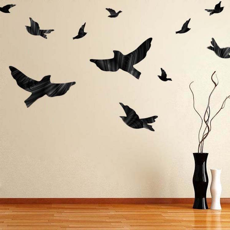 flying birds decal - animal wall decal murals - primedecals