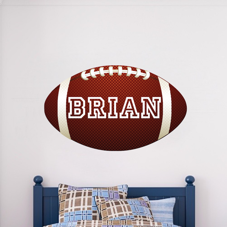 football wallpaper with custom name - large football wall graphic