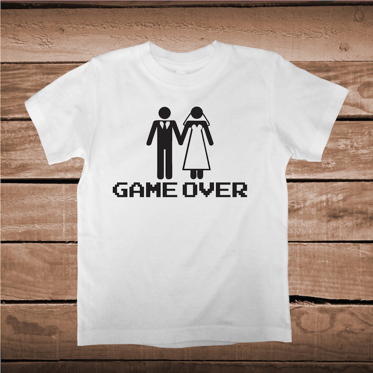 Game Over Funny Wedding Shirt Bachelor Party Tee Groom Tshirt Gift