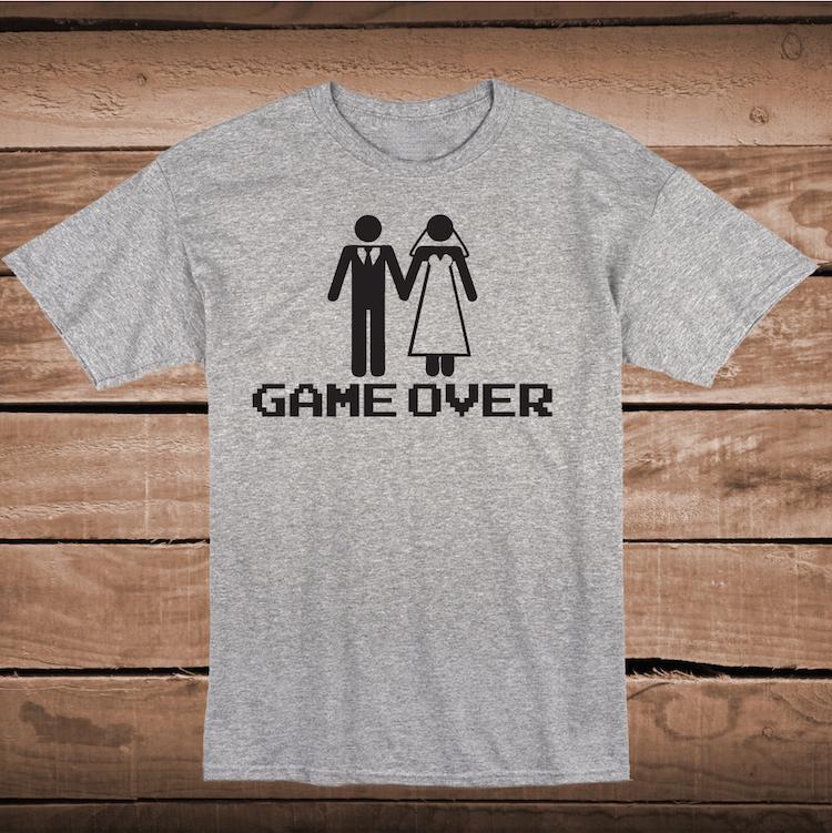 ebeb5e8d9 Game Over Funny Wedding Shirt
