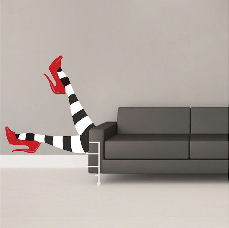 Wicked Witch Legs Wall Decals Halloween Stickers Primedecals