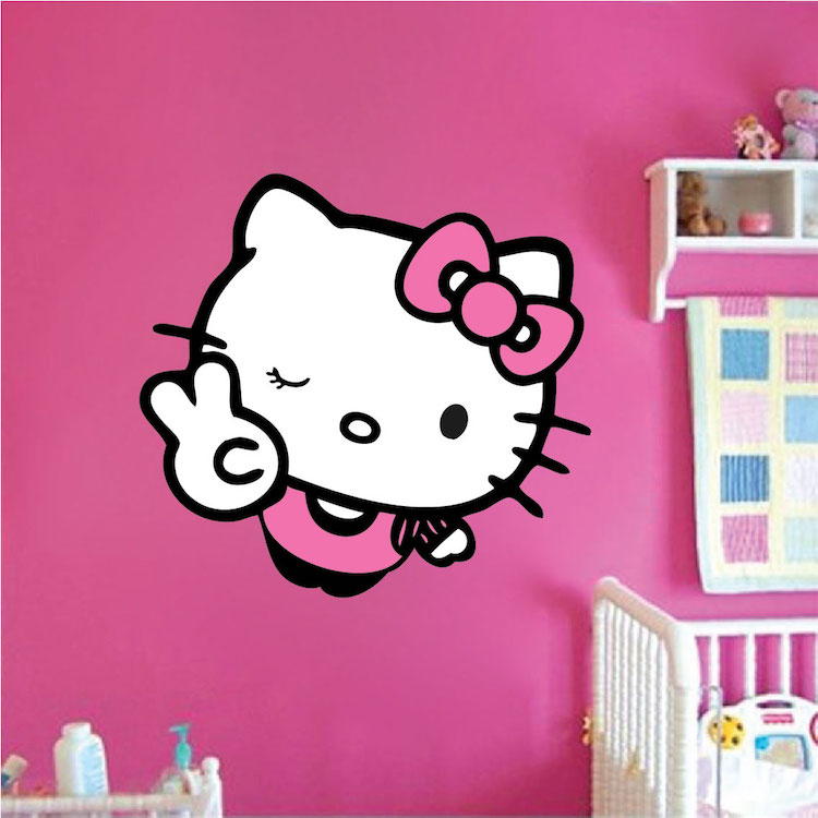 Hello Kitty Wall Decal Asia Culture Stickers Primedecals