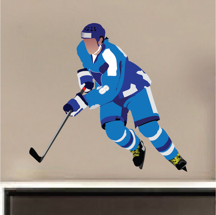 Hockey Player Wall Decal Mural Sports Stickers Primedecals