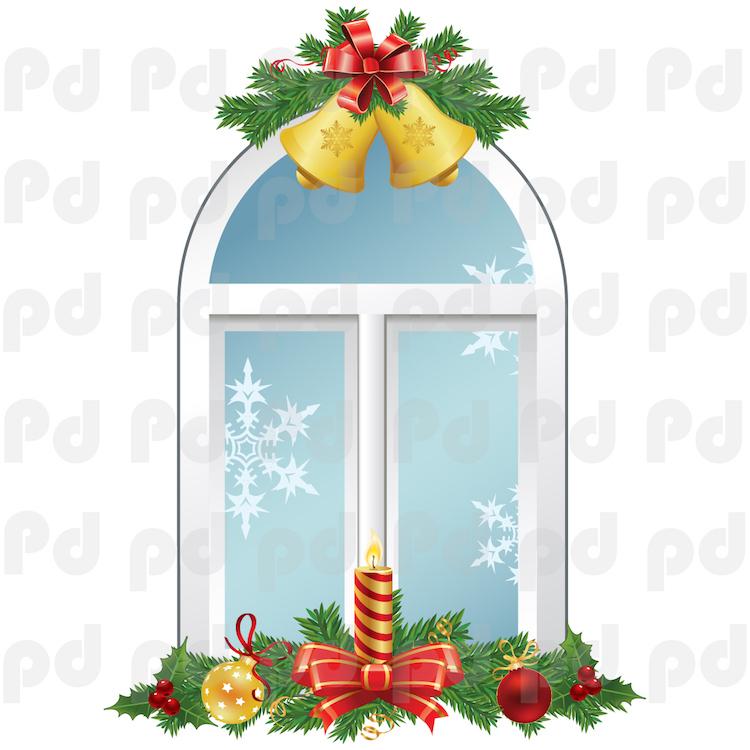 Christmas Window Wall Decal - Interior Wallpaper Sticker ...