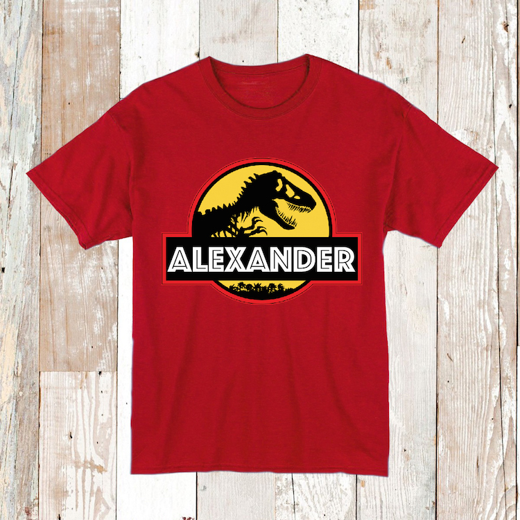 d3f398ad Custom Tee Jurrasic Park With Personalized Name _ Tee Tees _ Custom ...