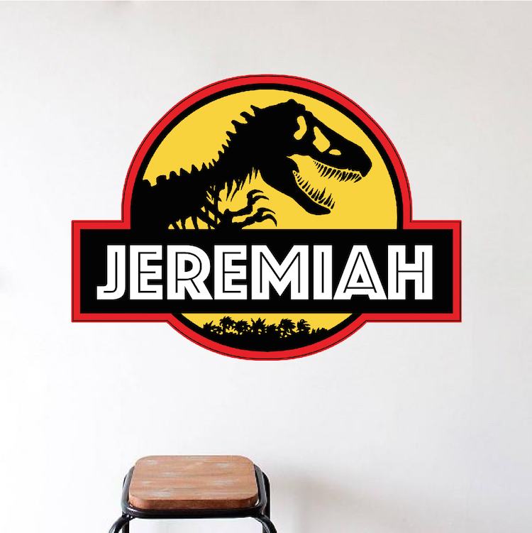 Ideal Jurassic Park Personalized Wall Decal - Superhero Wall Design  CQ18