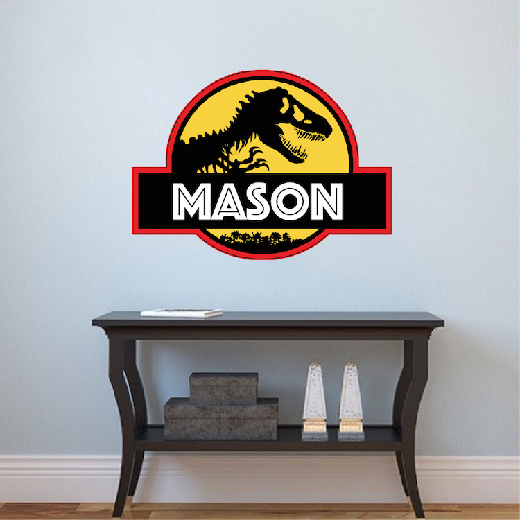 jurassic park personalized wall decal - superhero wall design
