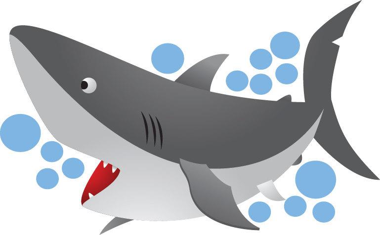 Kids Shark Mural Decal Nursery Wall Decal Murals