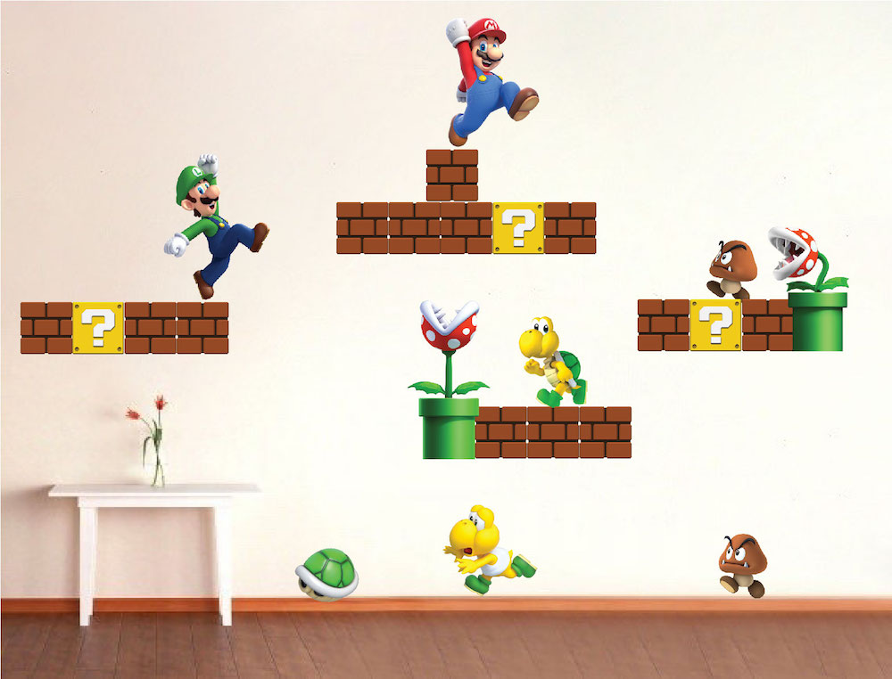 Video Game Wall Decal Murals