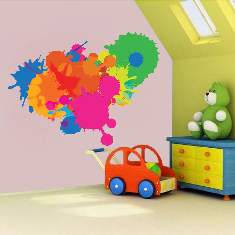 Splash Colorful Room Wall: Color Splash Wall Decal
