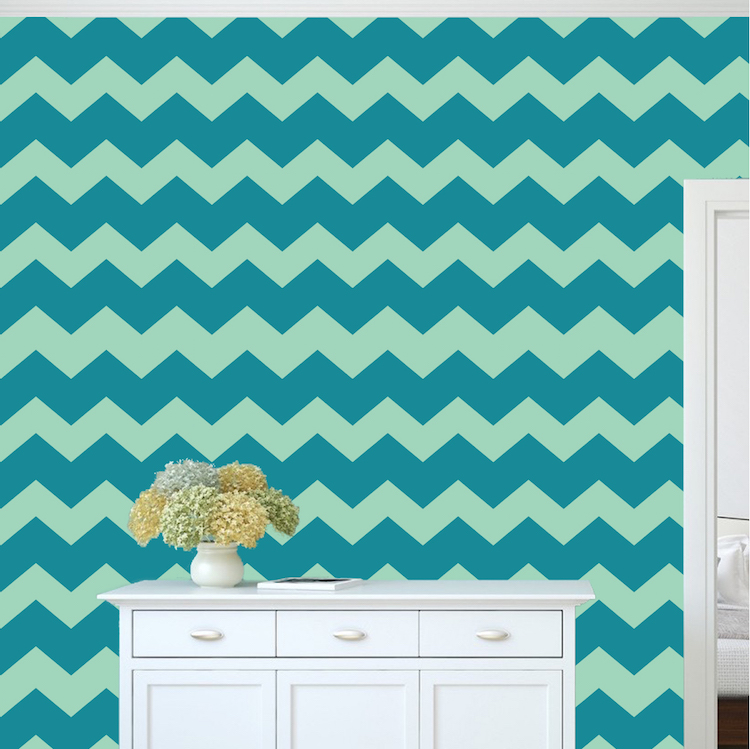 Custom Chevron Wallpaper Self Adhesive Decals Large