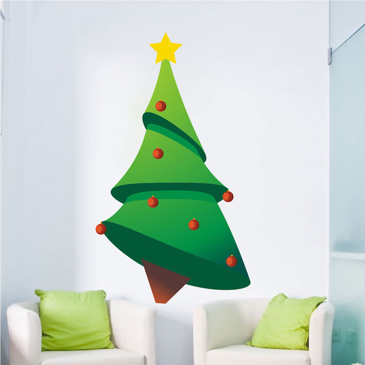 Christmas Tree Wall Decal Christmas Murals Primedecals