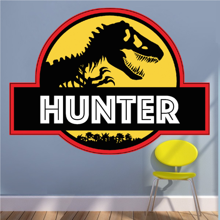 Jurassic Park Personalized Wall Decal - Superhero Wall ...