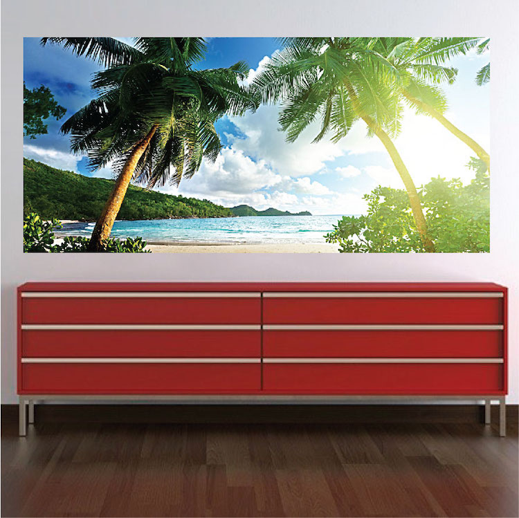 Palm Tree View Mural Decal View Wall Decal Murals Primedecals