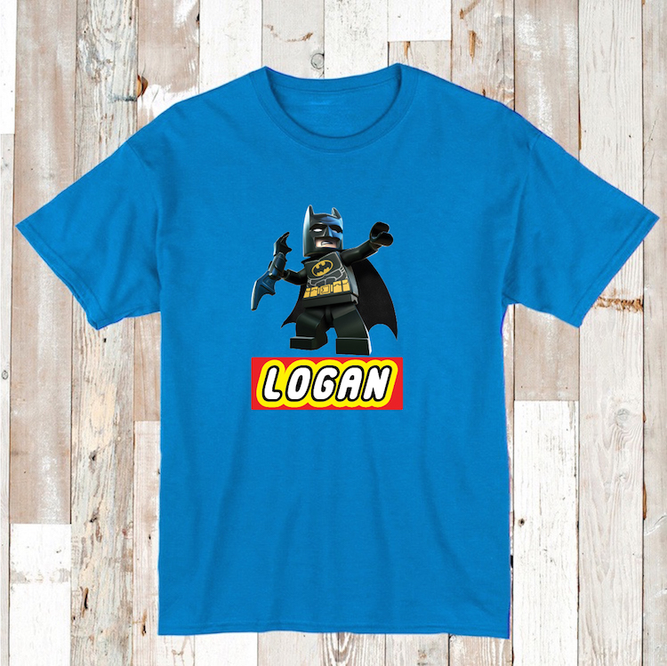 Lego Batman Custom Tee With Name Tee Tees T Shirt