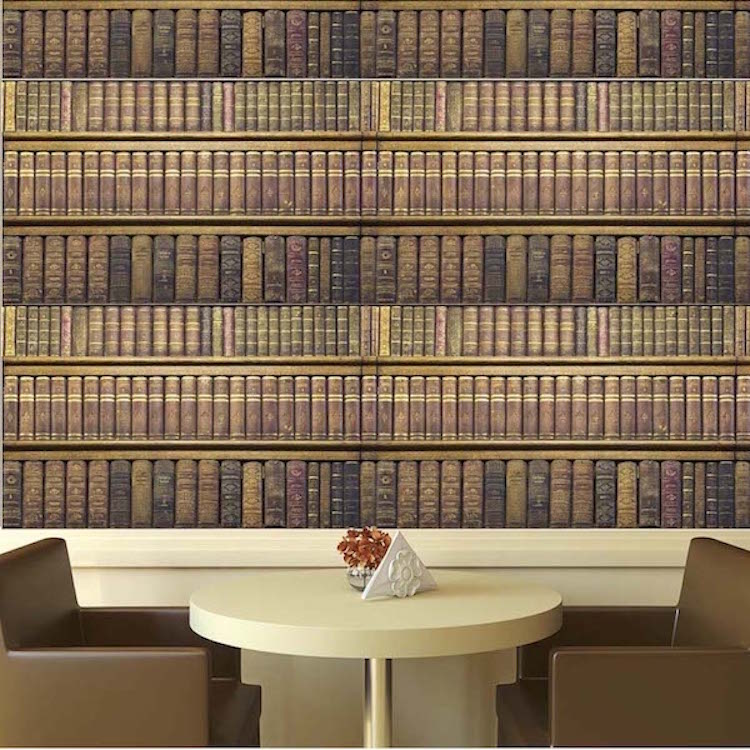 Rustic Book Wall Mural Decal Texture Wall Decal Murals