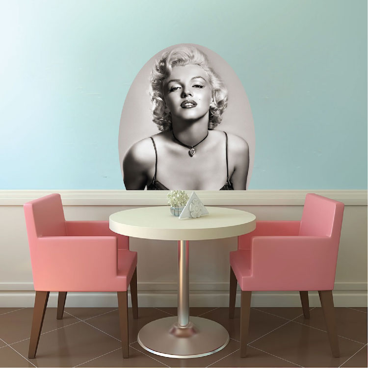 Marilyn Monroe Mural Decal Hollywood Wall Decal Murals