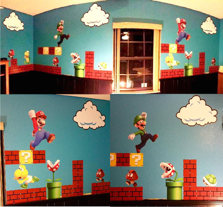 Super Mario Bros Clouds Wall Decal Bedroom Stickers