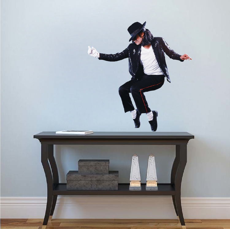 michael jackson wall mural decal - music wall stickers - king of pop