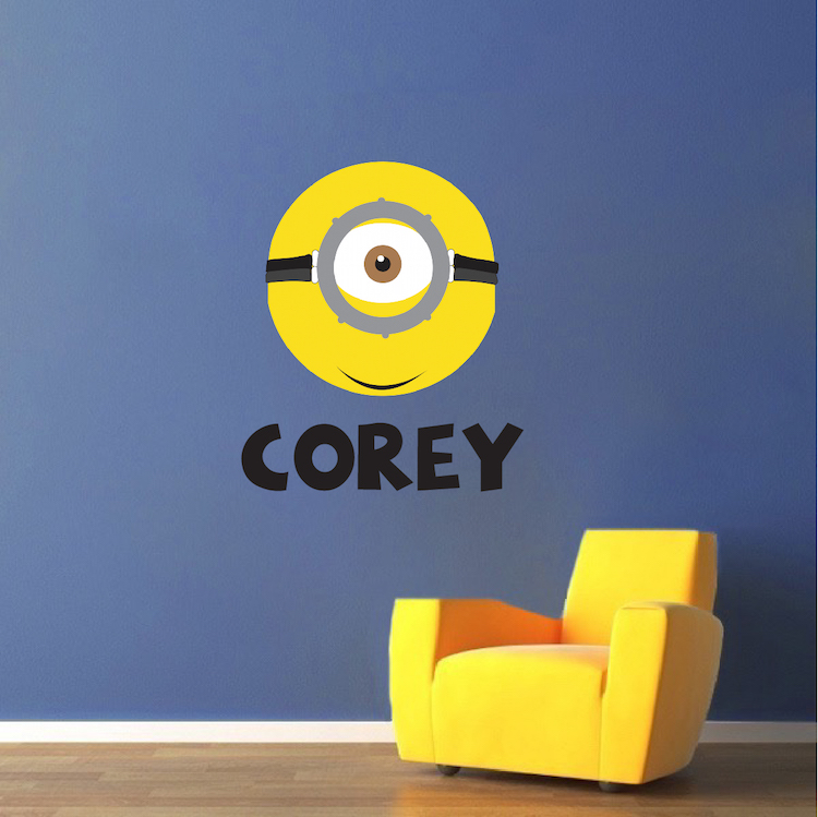 Minion Custom Bedroom Decals For Kids