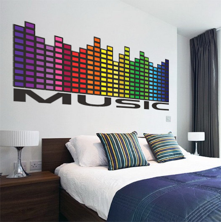 Music Wall Decal - Music Bedroom Sticker - Music Decals ...