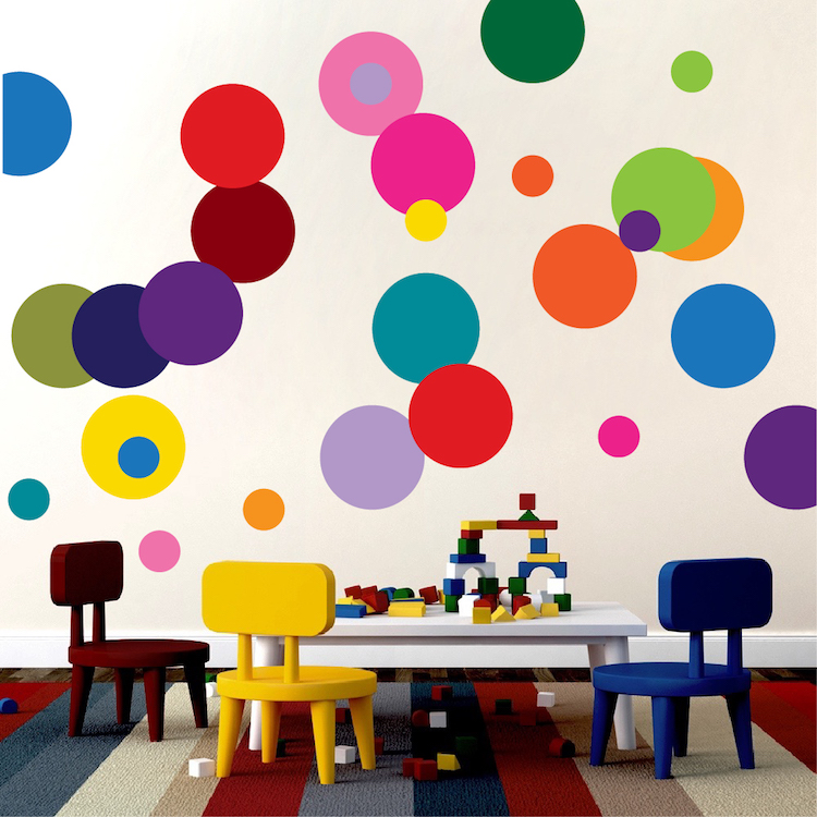 Colorful Dots Decal