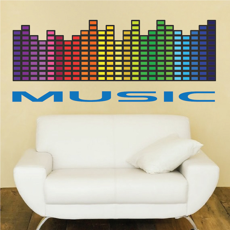 Music Wall Decal - Music Bedroom Sticker - Music Decals - Music Wall ...