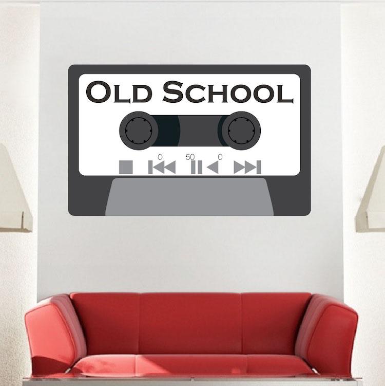 Cassette Tape Wall Mural Decal Music Wall Decal Murals Primedecals