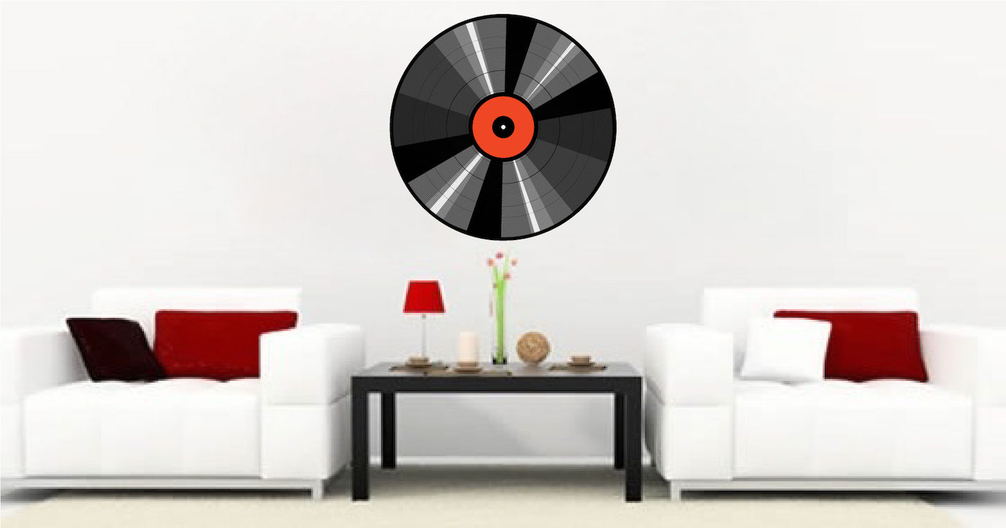 Music Record Wall Mural Decal Music Wall Decal Murals Primedecals