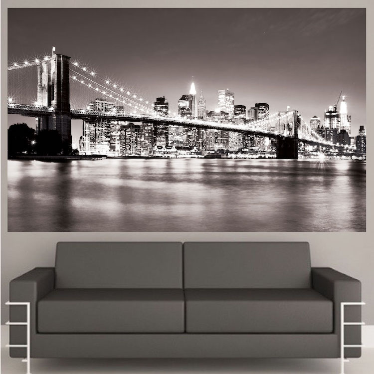 New York Bridge Mural Decal View Wall Decal Murals Primedecals