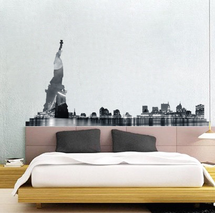 Nyc Skyline Wall Mural Decal New York Wall Decal Murals Primedecals