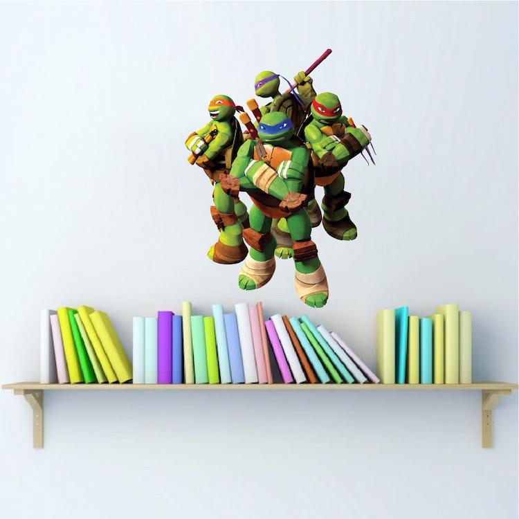 Ninja Turtle Wall Decal Murals Ninja Turtles Bedroom