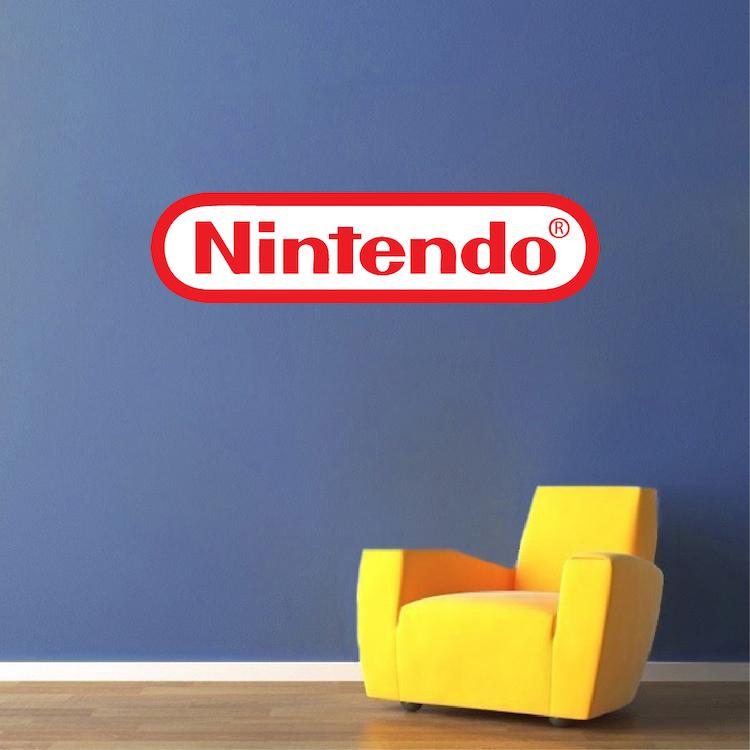 nintendo logo wall decal decor _ nintendo game room decor _ nintendo